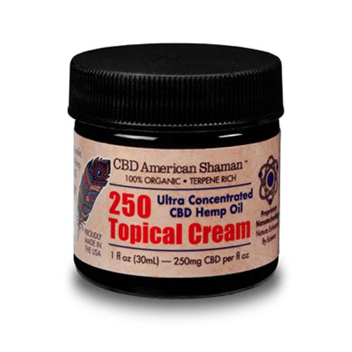 Small, dark container of CBD topical Cream.