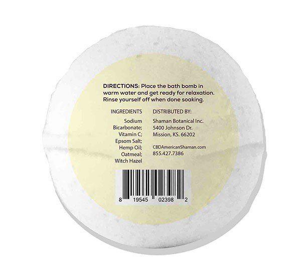 Bottom of white bath bomb.