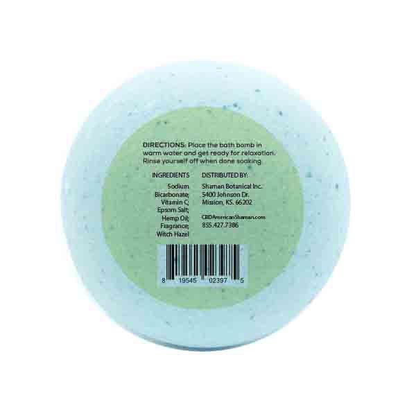 Bottom of light blue bath bomb.