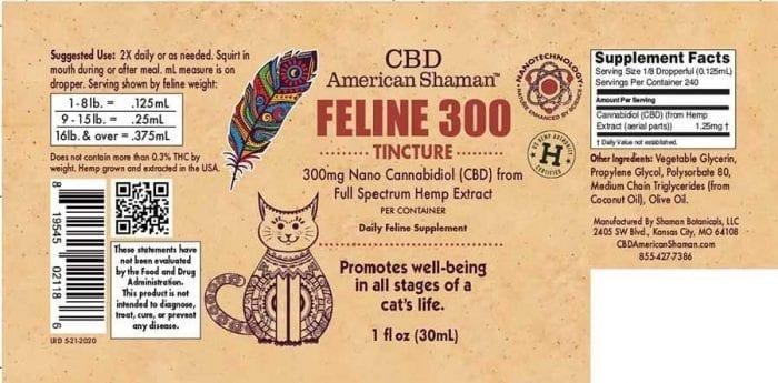 Packaging for Feline CBD oil.