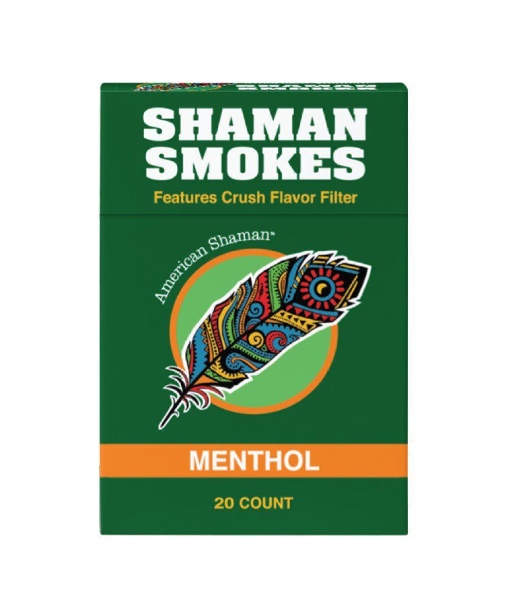 Small green box of Menthol flavored hemp cigarettes.