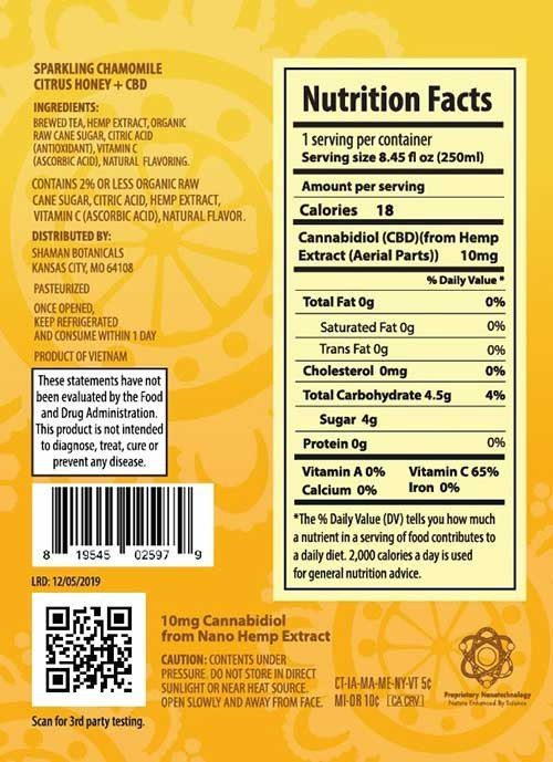 Health facts from chamomile and honey tea.