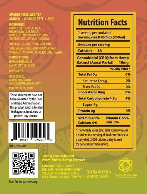 Health information for Mango tea.